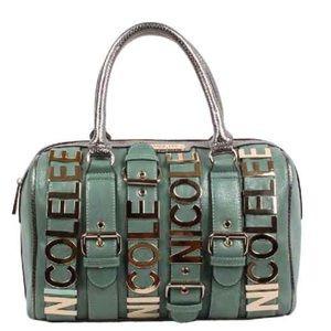 Nicole Lee Shiny Green Boston Bag